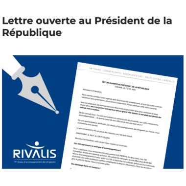 LETTRE OUVERTE AU PRESIDENT DE LA REPUBLIQUE